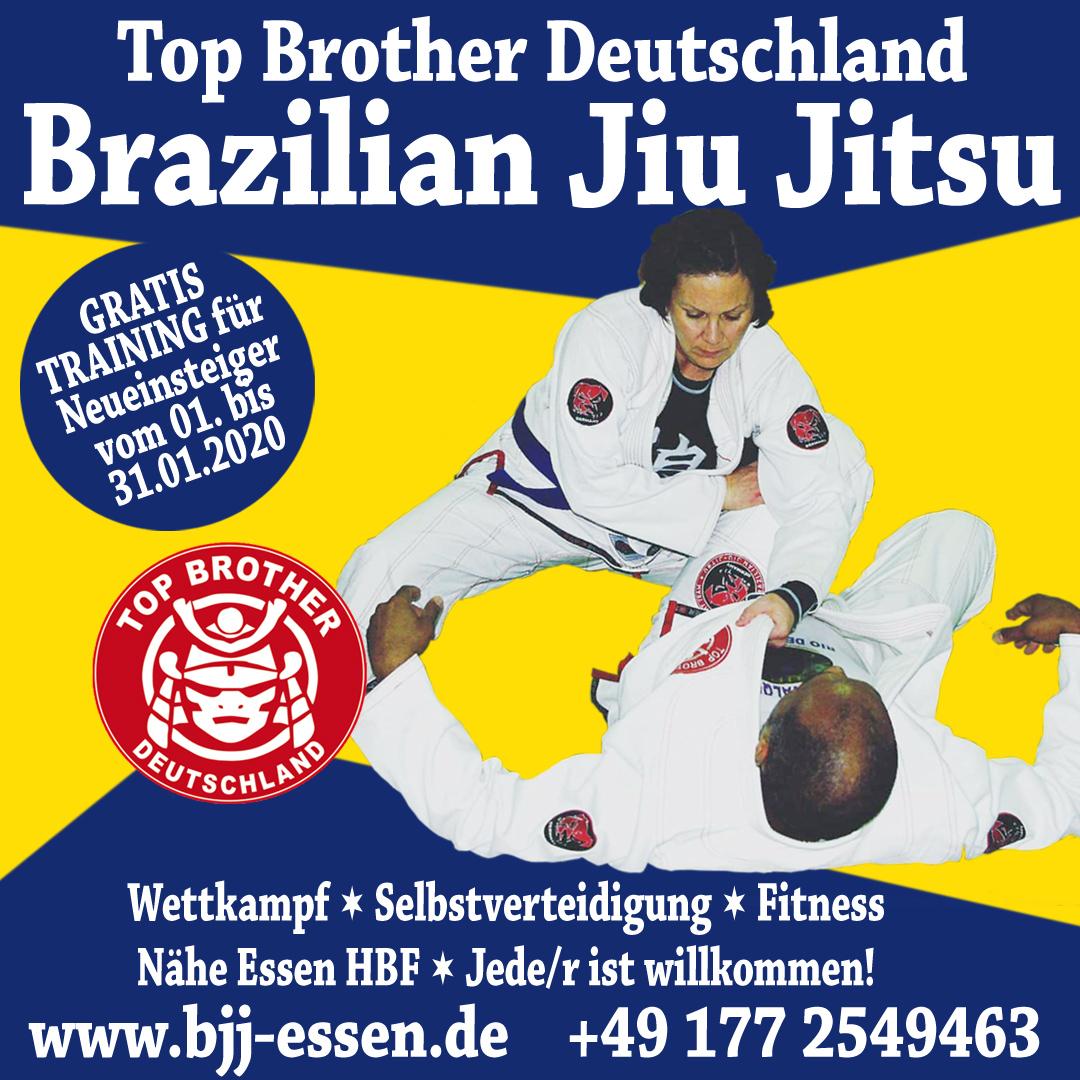 Top Brother – Top Angebot: im Januar trainieren BJJ-Neueinsteiger gratis!